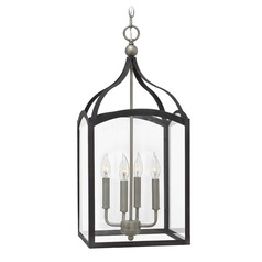 Hinkley Lighting Clarendon Aged Zinc Pendant Light with Rectangle Shade