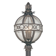 Post Light with Clear Glass in Campanile Bronze Finish
