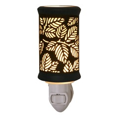Night Light with Black Porcelain Shade