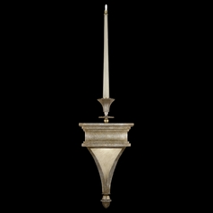 Fine Art Lamps Candlelight 21st Century Gold-Toned Silver Leaf Sconce