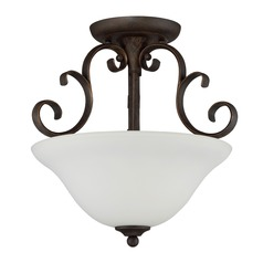 Craftmade Lighting Barrett Place Mocha Bronze Semi-Flushmount Light