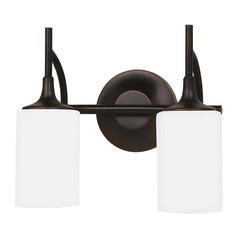 Sea Gull Lighting Stirling Burnt Sienna LED Bathroom Light