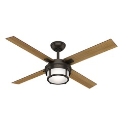 Hunter 52-Inch Premier Bronze LED Ceiling Fan with Light with Hand-Held Remote
