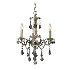 Mini-Chandelier in Weathered Silver Finish