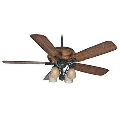 Casablanca Fan Heathridge Aged Steel Ceiling Fan with Light