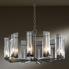 Hubbardton Forge Lighting New Town Dark Smoke Chandelier