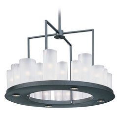 Maxim Lighting Urban Nights Textured Black Round Chandelier