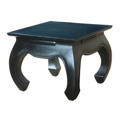 Sterling Lighting Black Finish Aged Antique Coffee & End Table
