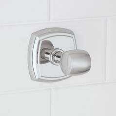 Norwell Lighting Soft Square Chrome Towel / Robe Hook
