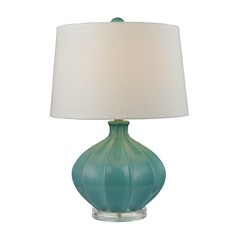 Dimond Lighting Medium Seafoam Glaze Table Lamp with Empire Shade
