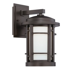 Designers Fountain Barrister Burnished Bronze LED Outdoor Wall Light