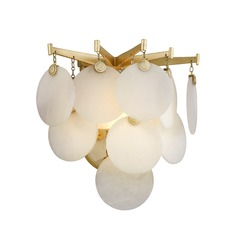 Modern Art Deco LED Sconce Gold Leaf Serenity by Corbett Lighting