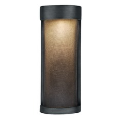 Wicker Park Warm Pewter LED Outdoor Wall Light by Vaxcel Lighting