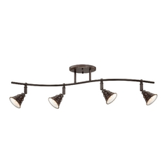 Farmhouse Track Light Kit Bronze Eastvale by Quoizel Lighting