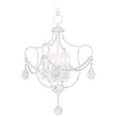 Livex Lighting Chesterfield Antique White Pendant Light
