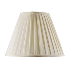 Pleated Off White Empire Lamp Shade with Spider Lamp Shade Assembly