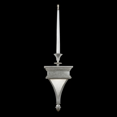Fine Art Lamps Candlelight 21st Century Silver Clear Silver Leaf Accented with Polished Nickel Fitti