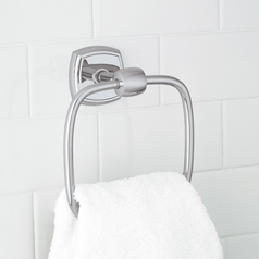 Norwell Lighting Soft Square Chrome Towel Ring