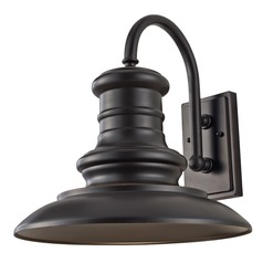 Feiss Lighting Redding Station Restoration Bronze LED Outdoor Wall Light