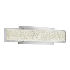Elan Lighting Crushed Ice Chrome LED Bathroom Light
