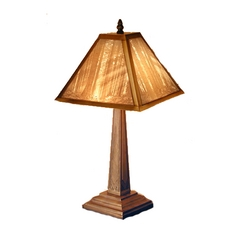 Accent Table Lamp with Woodland Etched Porcelain Shade