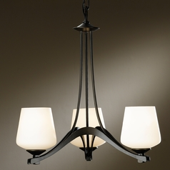 Hubbardton Forge Lighting Ribbon Dark Smoke Mini-Chandelier
