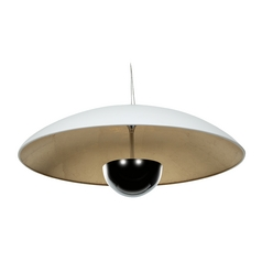 Access Lighting Pulsar White / Silver LED Pendant Light with Bowl / Dome Shade