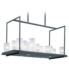 Maxim Lighting Urban Nights Textured Black Rectangle Chandelier