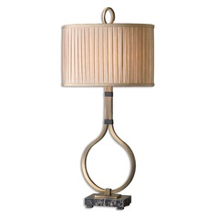 Uttermost Cusano Brushed Brass Table Lamp