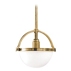 Mini-Pendant Light with White Glass