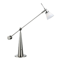 Lite Source Lighting Admiral Polished Steel Desk Lamp
