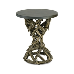 Currey and Company Lighting Accent Table in Rustic Gray/ Natural Finish 3106