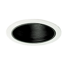 Black Baffle 6-Inch Recessed Trim for Shallow Recessed Housings
