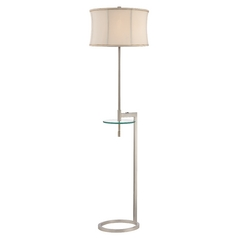 Gallery Tray Floor Lamp with Tapered Drum Shade