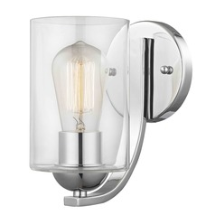 Design Classics Dalton Fuse Chrome Sconce