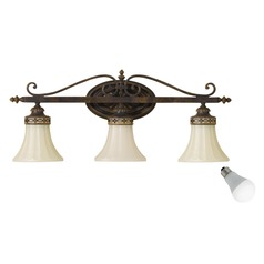 Feiss Lighting Drawing Room Walnut LED Bathroom Light
