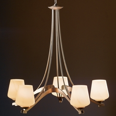 Hubbardton Forge Lighting Ribbon Burnished Steel Chandelier