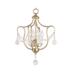 Livex Lighting Chesterfield Polished Brass Pendant Light