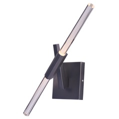 Light Saber LED Gunmetal LED Sconce