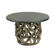 Currey and Company Lighting Coffee & End Table in Rustic Gray/ Natural Finish 3105