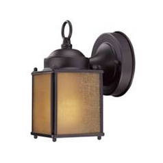 Small Bronze Outdoor Wall Light with Compact Fluorescent Light Bulb