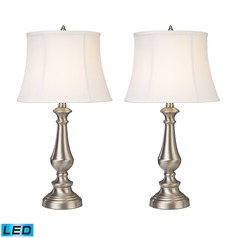 Dimond Lighting Nickel LED Table Lamp Sets with Empire Shades