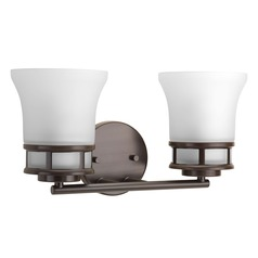 Transitional Bathroom Light Bronze Cascadia by Progress Lighting