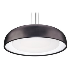 Modern Black LED Pendant with Frosted Shade 3000K 2671LM