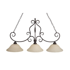 Maxim Lighting Manor Oil Rubbed Bronze Island Light with Bell Shade