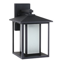 Sea Gull Lighting Hunnington Black LED Outdoor Wall Light