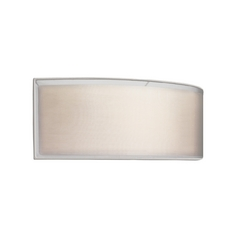 Modern Sconce Wall Light with Silver Shades in Satin Nickel Finish
