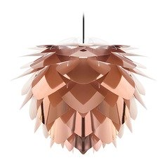 UMAGE Black Pendant Light with Abstract Shade