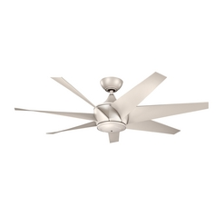 Kichler Lighting Lehr Ii Antique Satin Silver Ceiling Fan Without Light