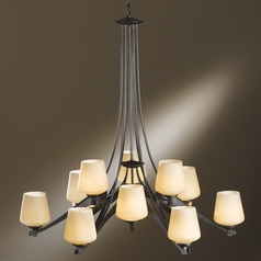 Hubbardton Forge Lighting Ribbon Dark Smoke Chandelier